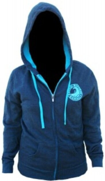Women's Edgy Hoodie Blue/Turquois