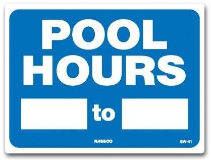 Pool Hours Sign Best Aquatic Management Pool Management
