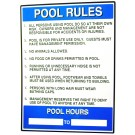 Pool Rules Sign PM40322