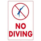 6605WS1218E No Diving Sign