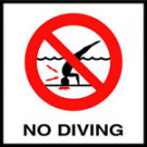"""No Dive"" Symbol - Waterline C6SMGSMND"