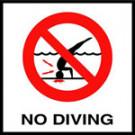 """No Dive"" Symbol - Waterline C6SMGSMND"