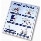 Pool Rules Sign JED100