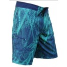 Men's 4 Way Stretch Lazer Green Boardshort