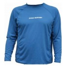 Men's Rashguard Loose Fit Long Sleeve Blue