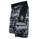 Men's Tribal Instinct Black & White Boardshort TRIBK