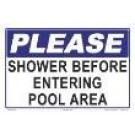 Please Shower Sign 7502WS1208E