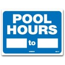 Pool Hours Sign 7310WA1210E